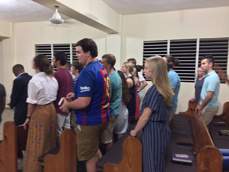 Church service in Alfa