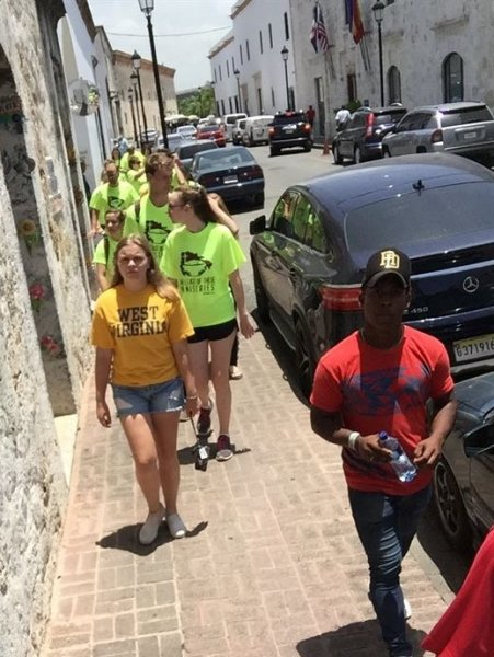 Visiting the Colonial Zone in Santo Domingo before leaving