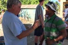 Steve and Wilton (a translator) in deep conversation